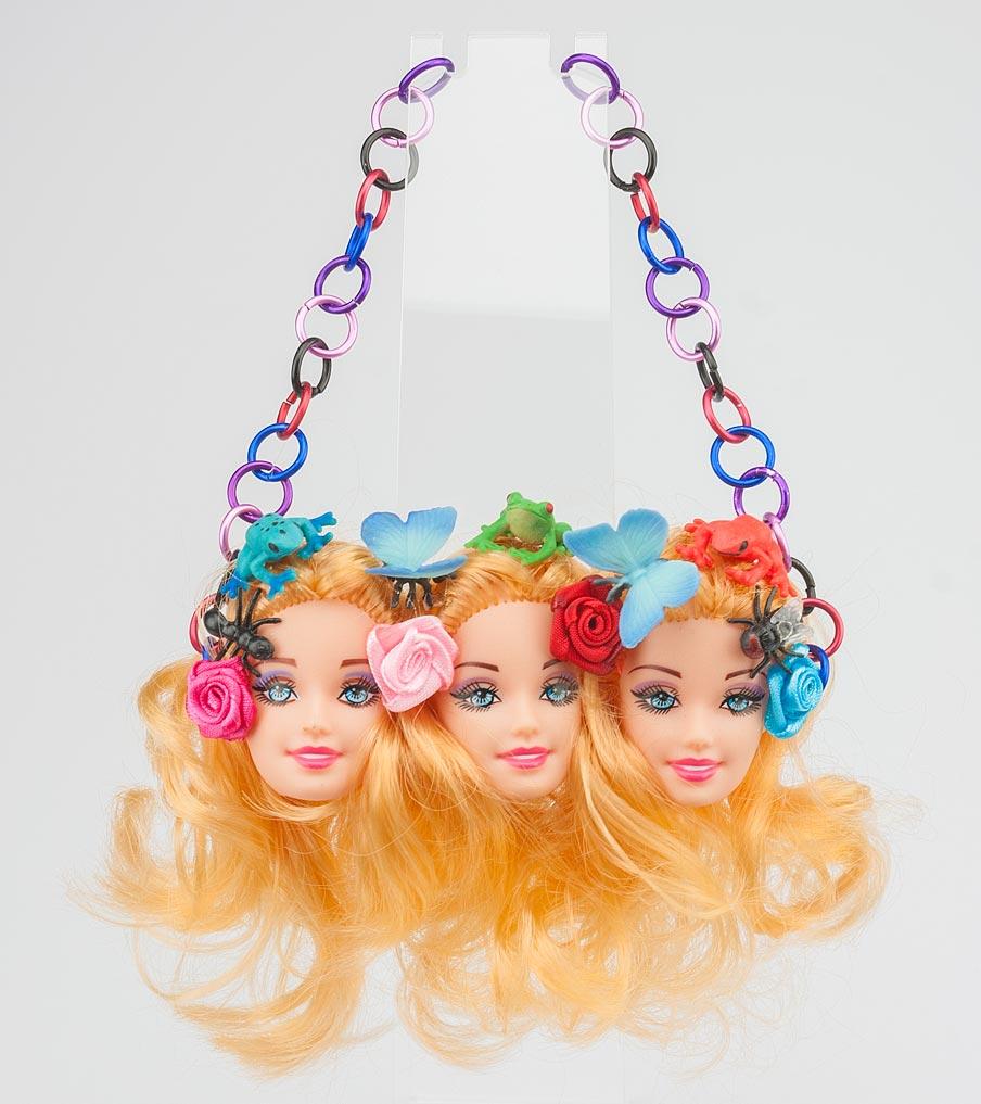 Drieling barbiehoofden ketting | Sieraad - Belinda Brama