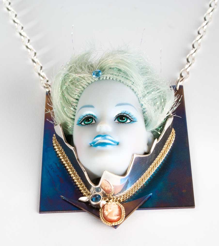Barbie blue hanger met ketting | Sieraad - Belinda Brama