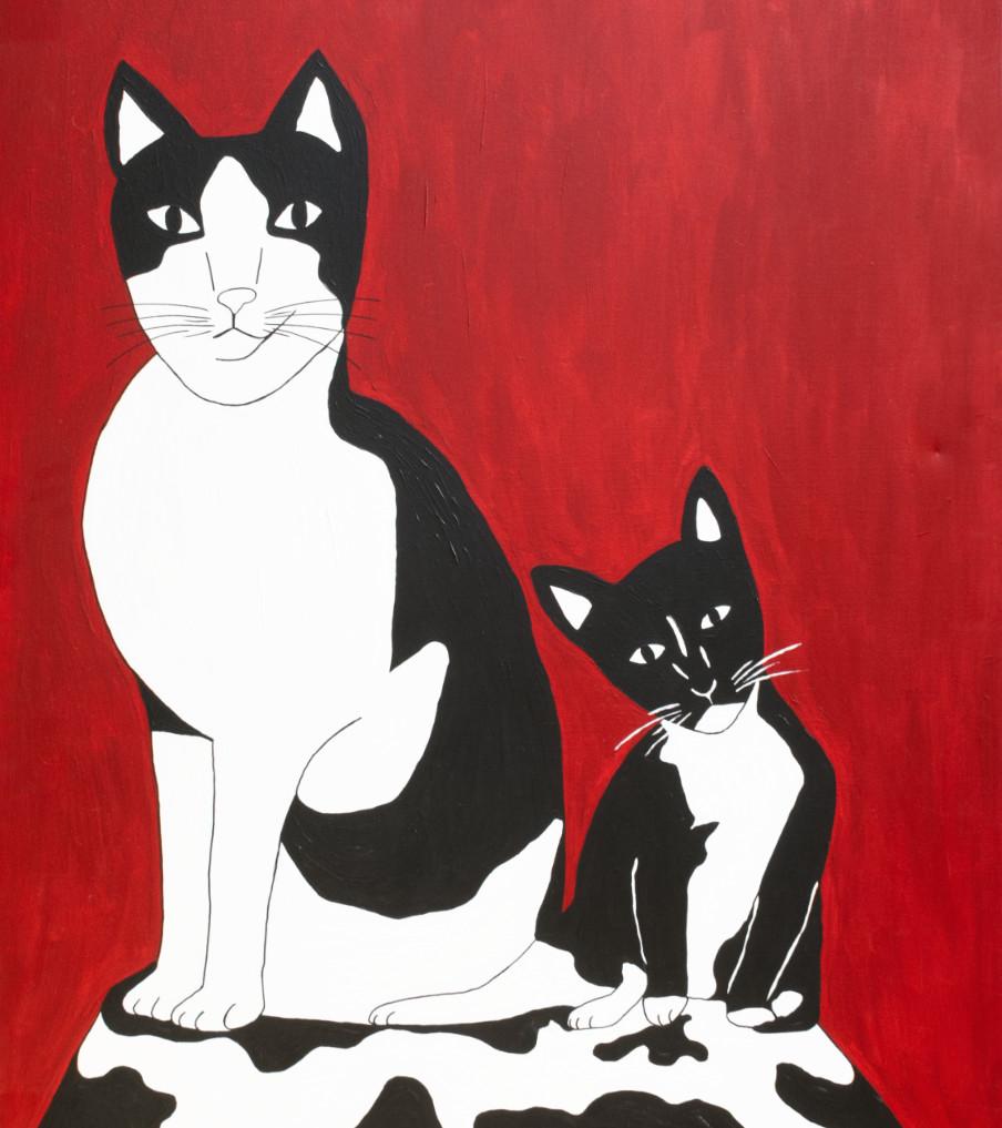 Chats - 120hx100bcm   Schilderij - Belinda Brama