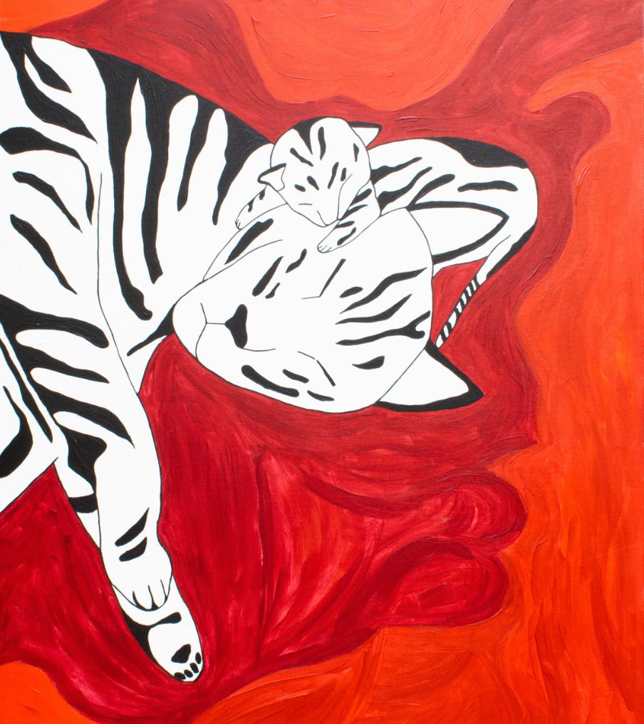 Katten - 120hx100bcm   Schilderij - Belinda Brama