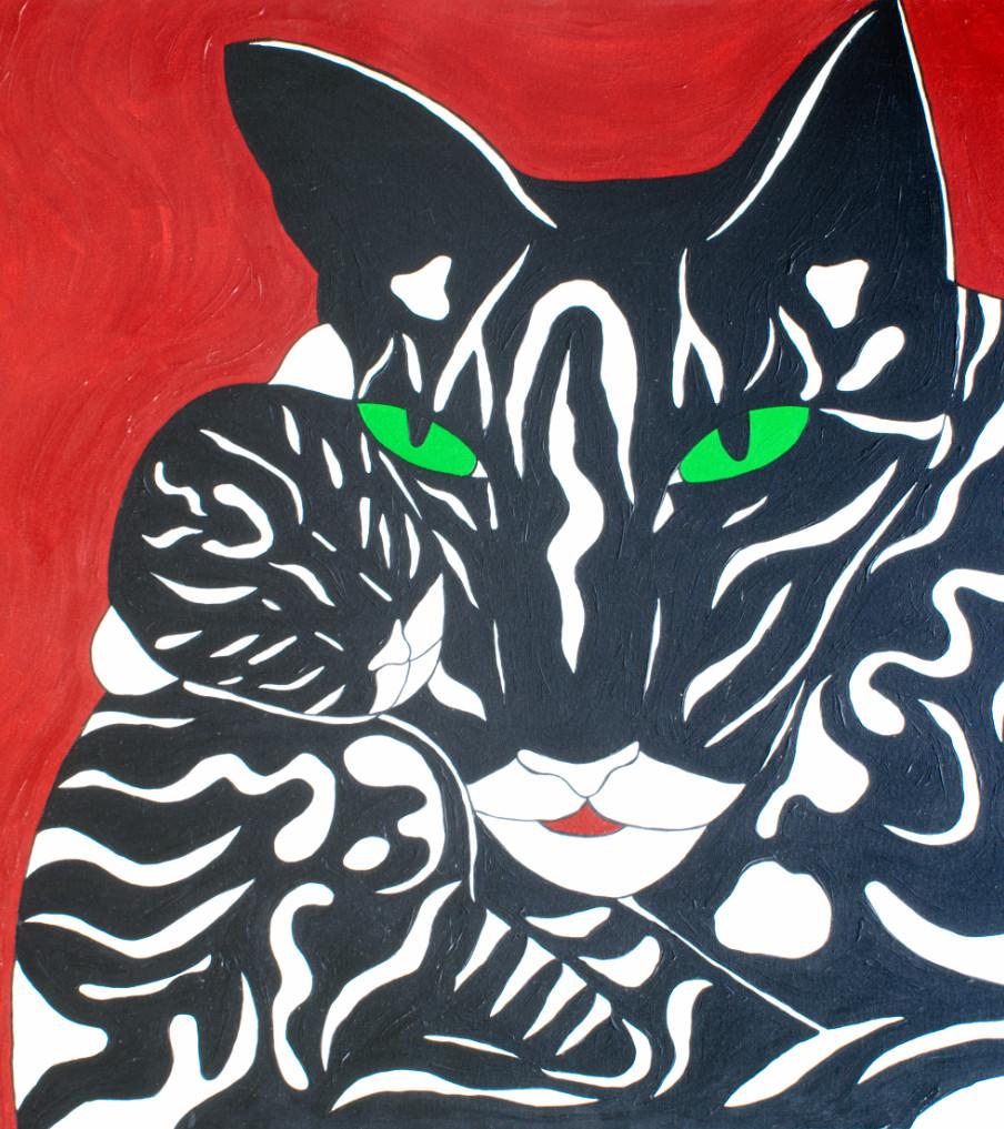 Katzen - 120hx100bcm   Schilderij - Belinda Brama