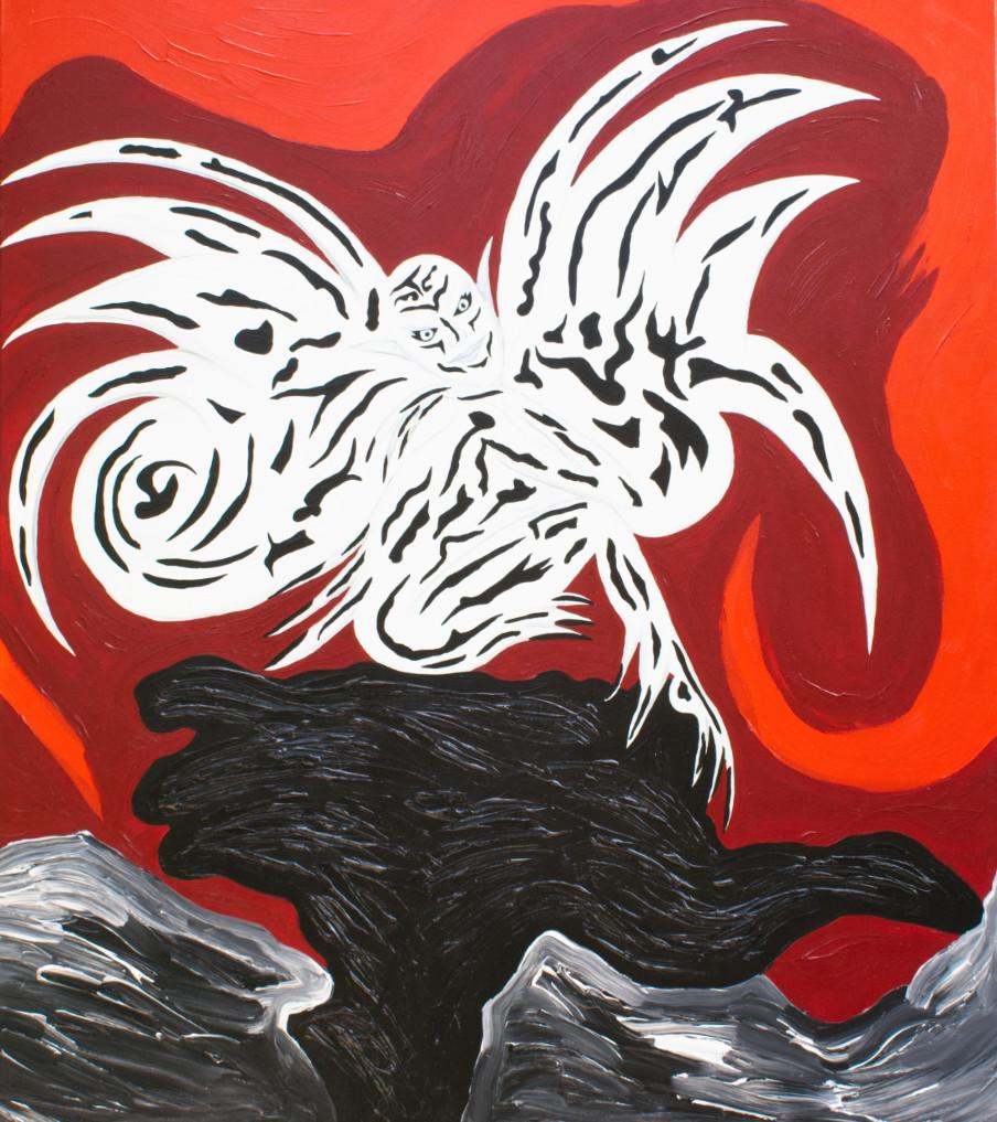 Vampierenelf - 120hx100bcm   Schilderij - Belinda Brama