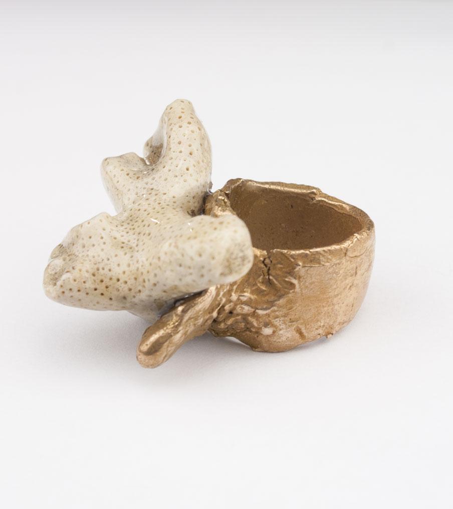 Bronze witte steen - brons - ring | Sieraad - Belinda Brama