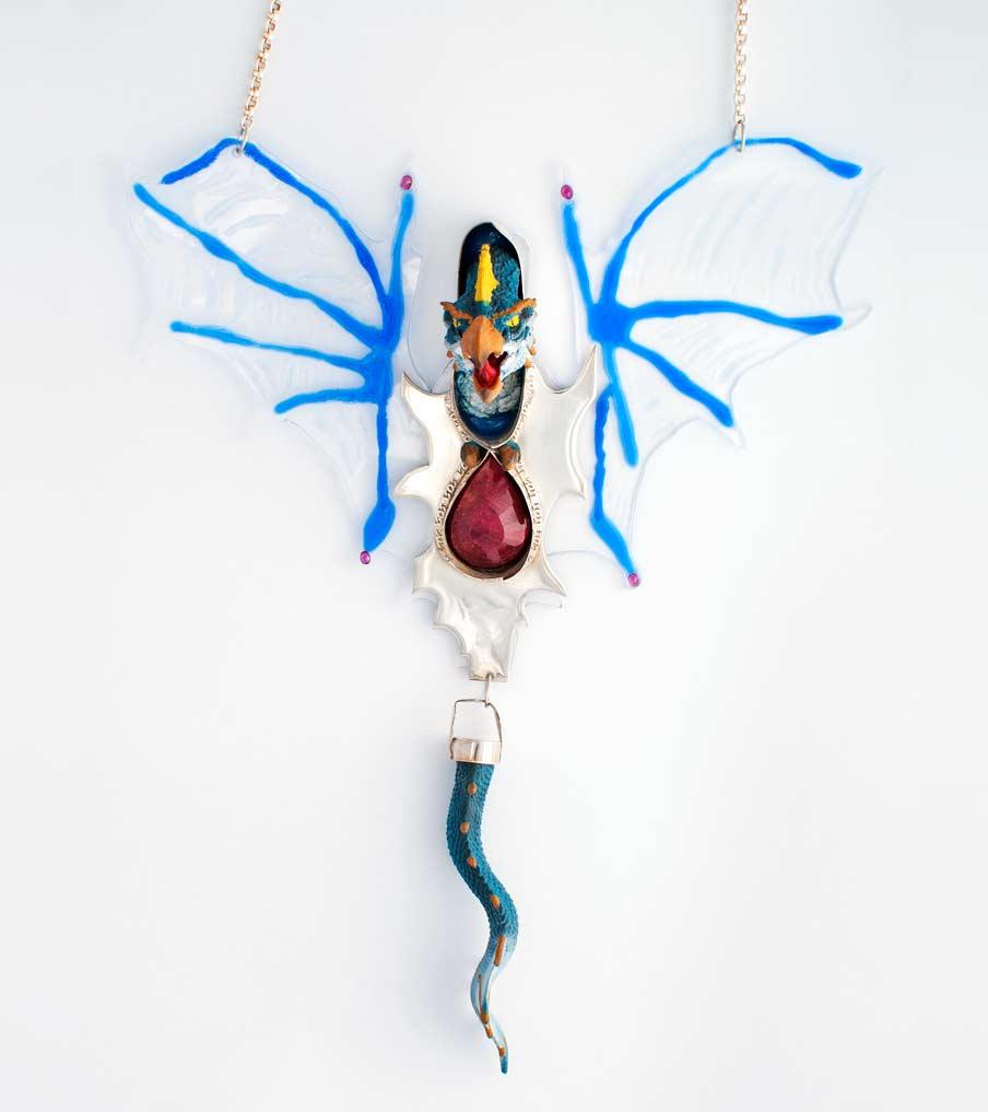 Draak hanger met ketting | Sieraad - Belinda Brama