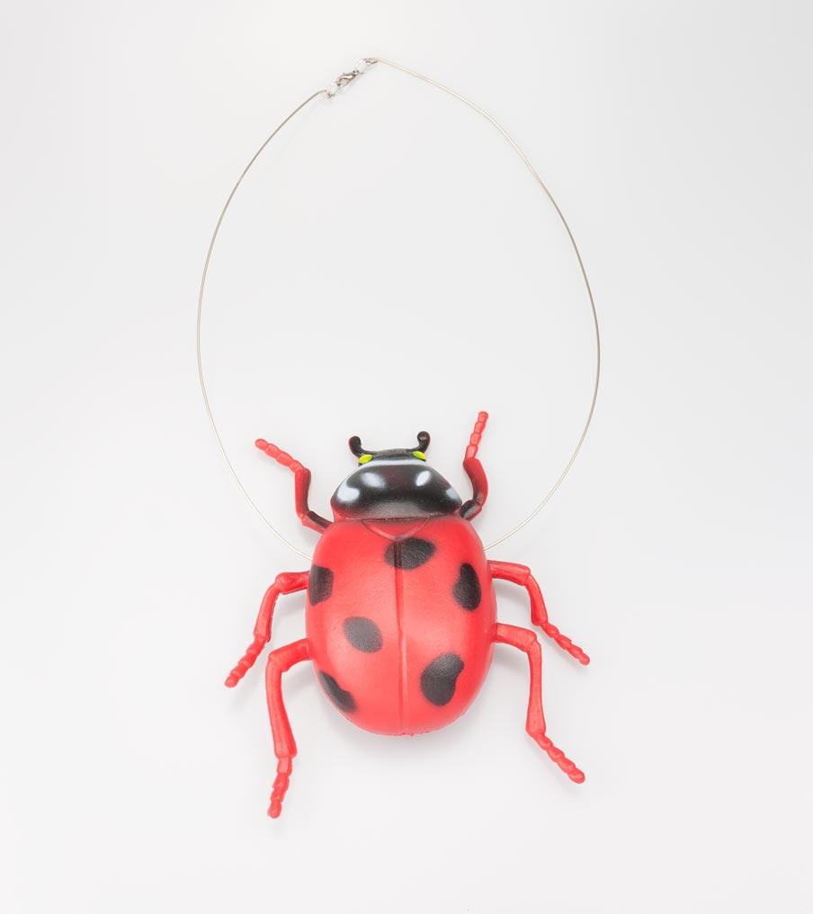 Rood lieveheersbeestje - ketting | Sieraad - Belinda Brama