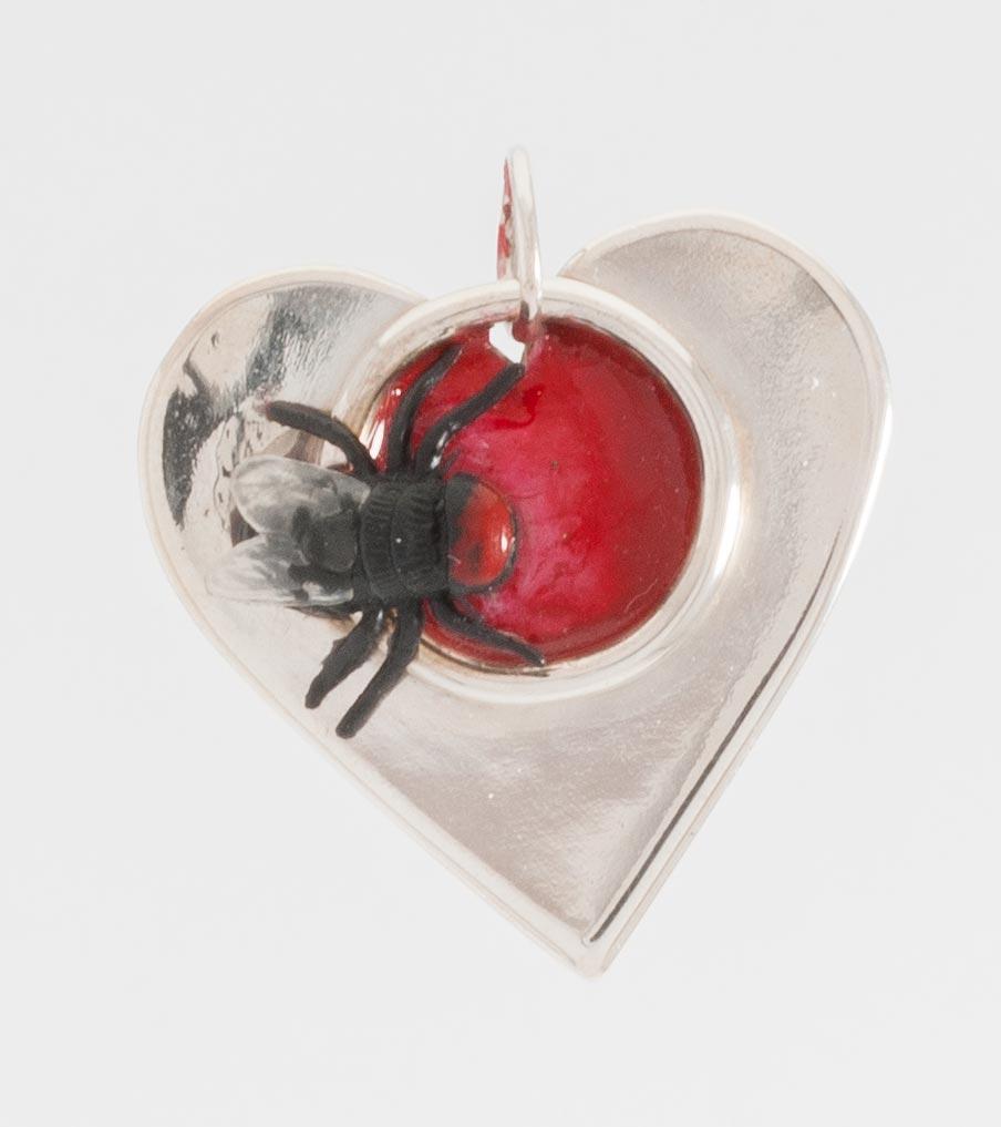 Vlieg in hartvorm - hanger | Sieraad - Belinda Brama