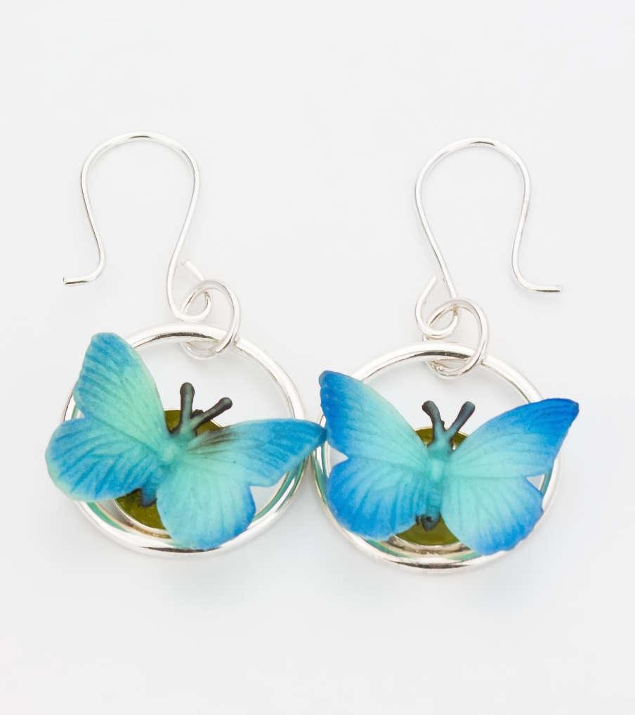 Butterflies - zilver - oorbellen | Sieraad - Belinda Brama