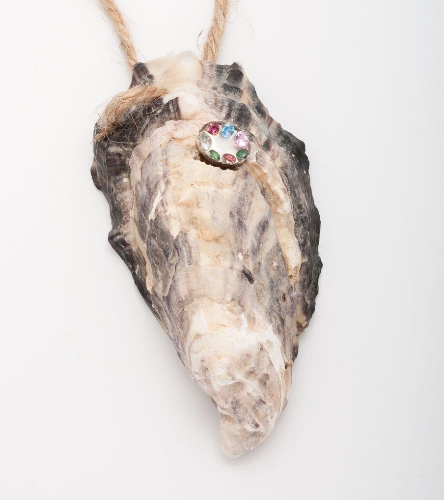 Oester ketting stenen en zilver | Sieraad - Belinda Brama