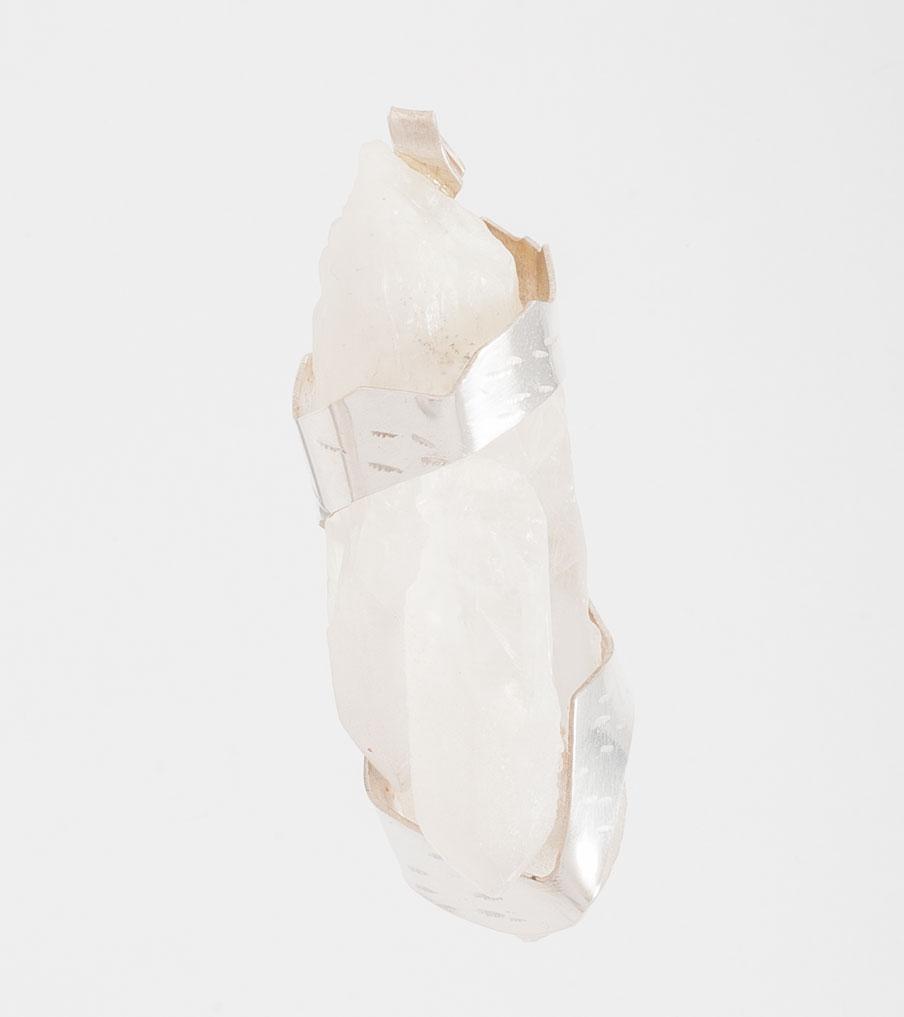 Witte kwarts hanger zilver | Sieraad - Belinda Brama