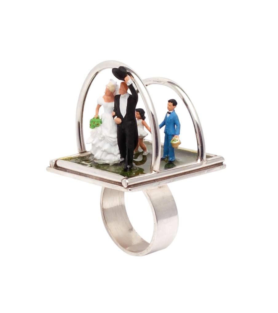 Bruidspaar ring zijaanzicht | Sieraad - Belinda Brama
