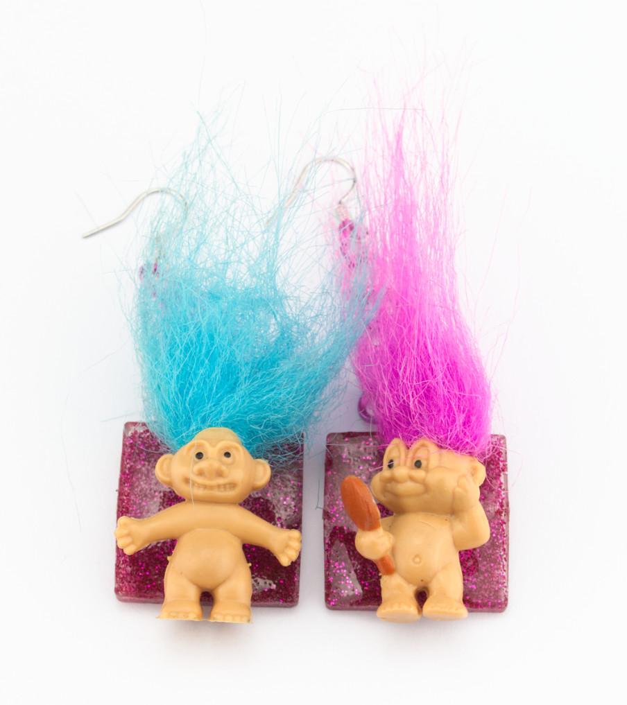Power trolls - oorbellen | Sieraad - Belinda Brama