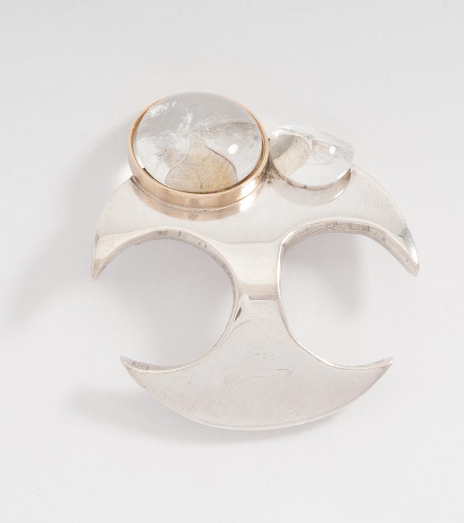 Vergane liefde - zilver, goud en glas - ring | Sieraad - Belinda Brama